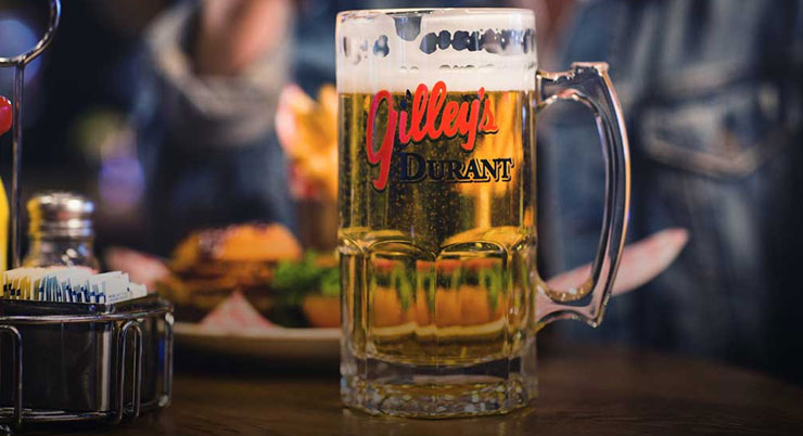 Beer and Burger at Gilley's Durant
